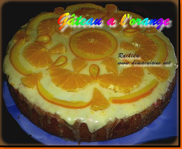 G teau l 39 orange recettes alg riennes et d 39 ailleurs for Mchawcha recette