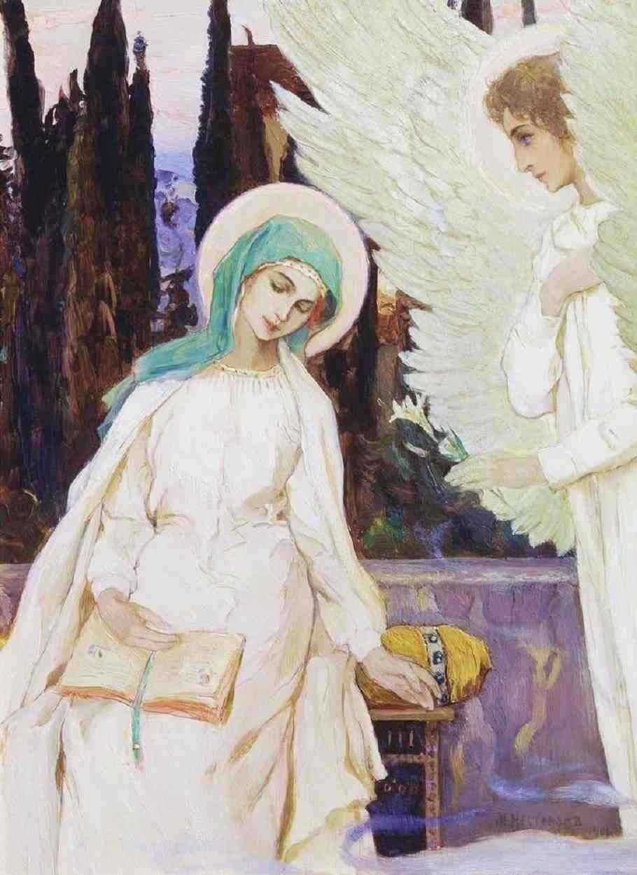 L'Annonciation - Mikhail Nesterov, 1901 dans immagini sacre mikhai12