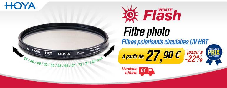 Vente flash Miss Numérique jusqu'à -22% sur les filtres polarisants circulaires Hoya UV HRT