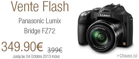 Vente flash Amazon avec -12% sur le bridge Panasonic Lumix DMC-FZ72