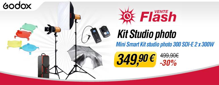 Vente flash Miss Numérique avec -30% sur le Mini Smart Kit Godox 300 SDI-E 2 x 300 W