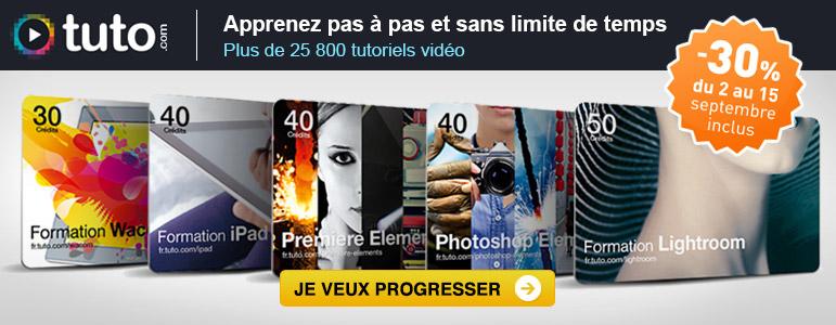 Promotions Miss Numérique avec -30% sur les formations vidéos Tuto.com