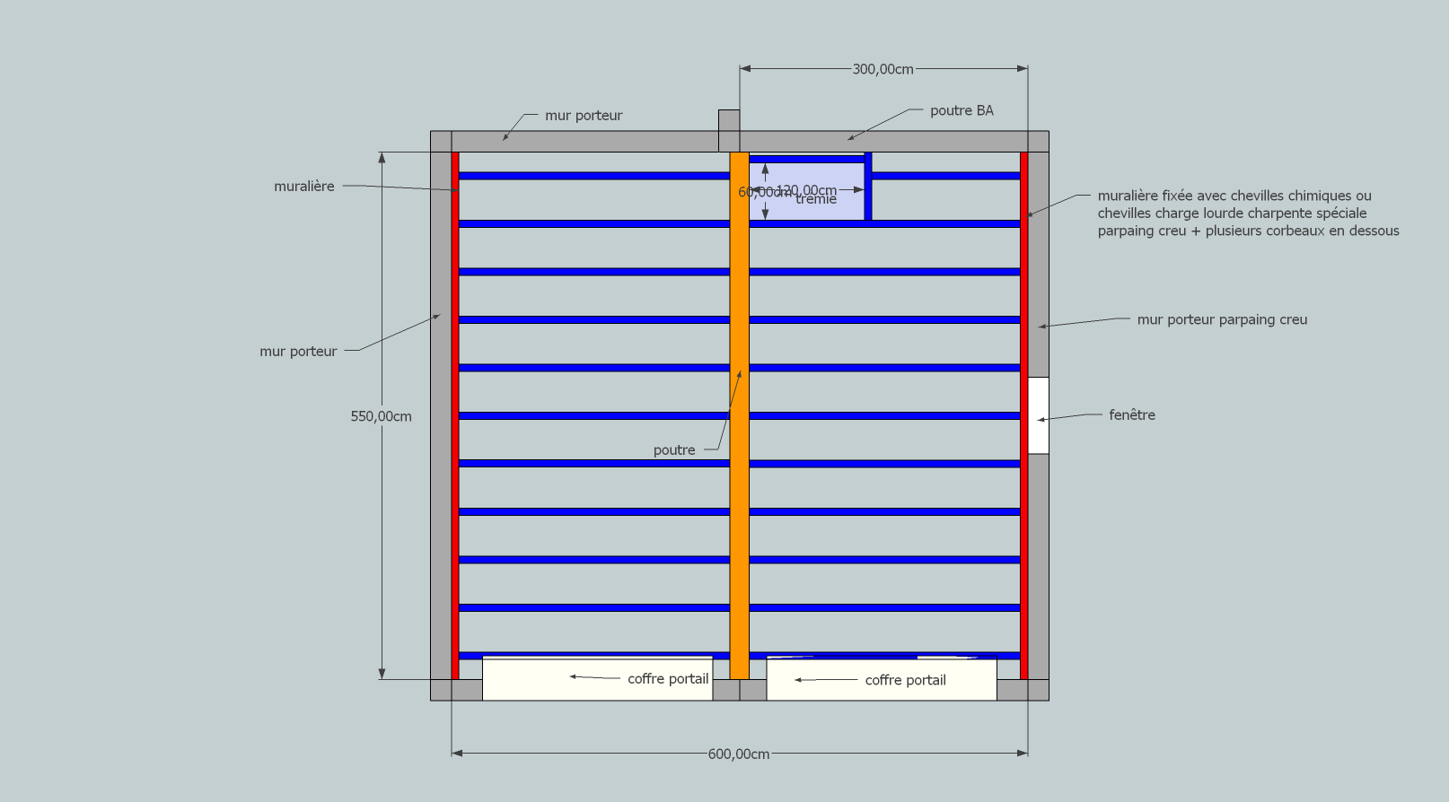 Construction d 39 un plancher au dessus du garage grenier - Faire un plancher bois dans un garage ...
