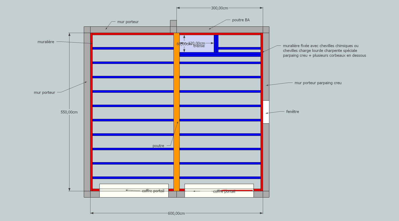Construction d 39 un plancher au dessus du garage grenier - Construire un plancher bois dans un garage ...