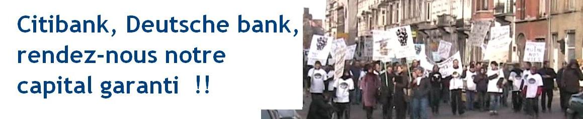 DeCiBel -  Collectif de défense des épargnants DEUTSCHE BANK  - CITIBANK