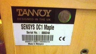 Tannoy Sensys Dc1 Sold