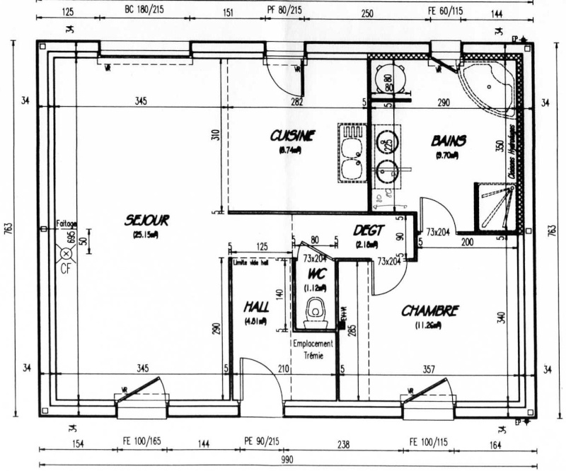 Besoin d 39 aide pour salon salle manger cuisine ouverte for Plan maison cuisine ouverte