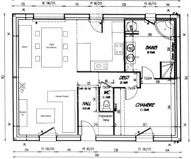 Besoin d 39 aide pour salon salle manger cuisine ouverte for Plans de cuisine ouverte