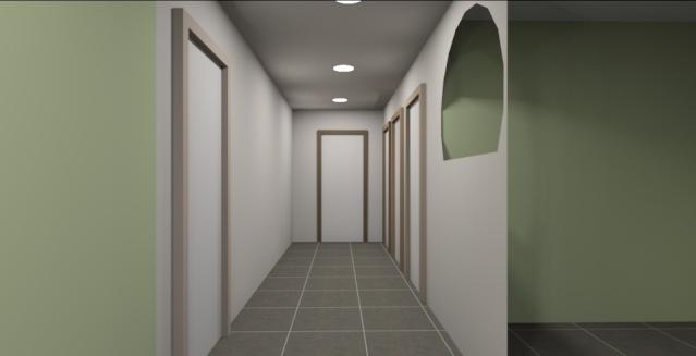 Mon couloir page 1 for Couleur de porte de couloir