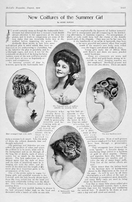 Et voici un autre exemple de coiffure avec Geneviève Lanthelme au destin  tragique, comédienne et mannequin, qui a inspiré à Marcel Proust le  personnage de