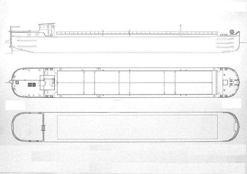 Automoteur transformable des forges de strasbourg type 59 - Habiter sur une peniche oui cest possible ...