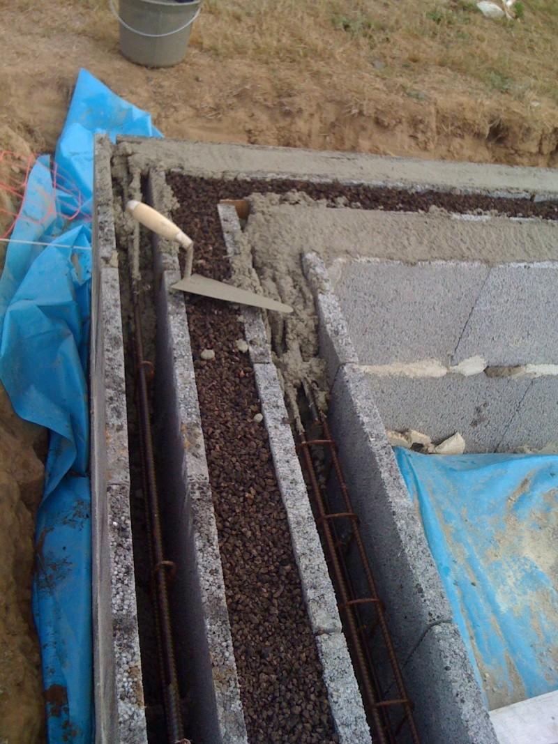Fondations avec double muret - Prix m3 beton fait main ...