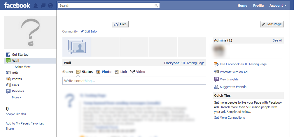 Nuevo diseño en Paginas de Facebook