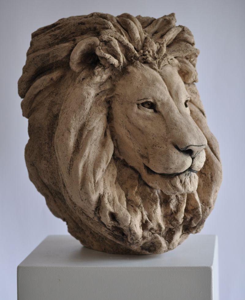 T u00eates de lions # Sculpture En Bois Facile
