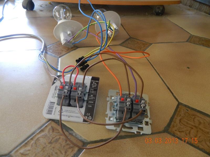 Sch ma 2 luminaires et 2 double va et viens for Electricite va et vient schema