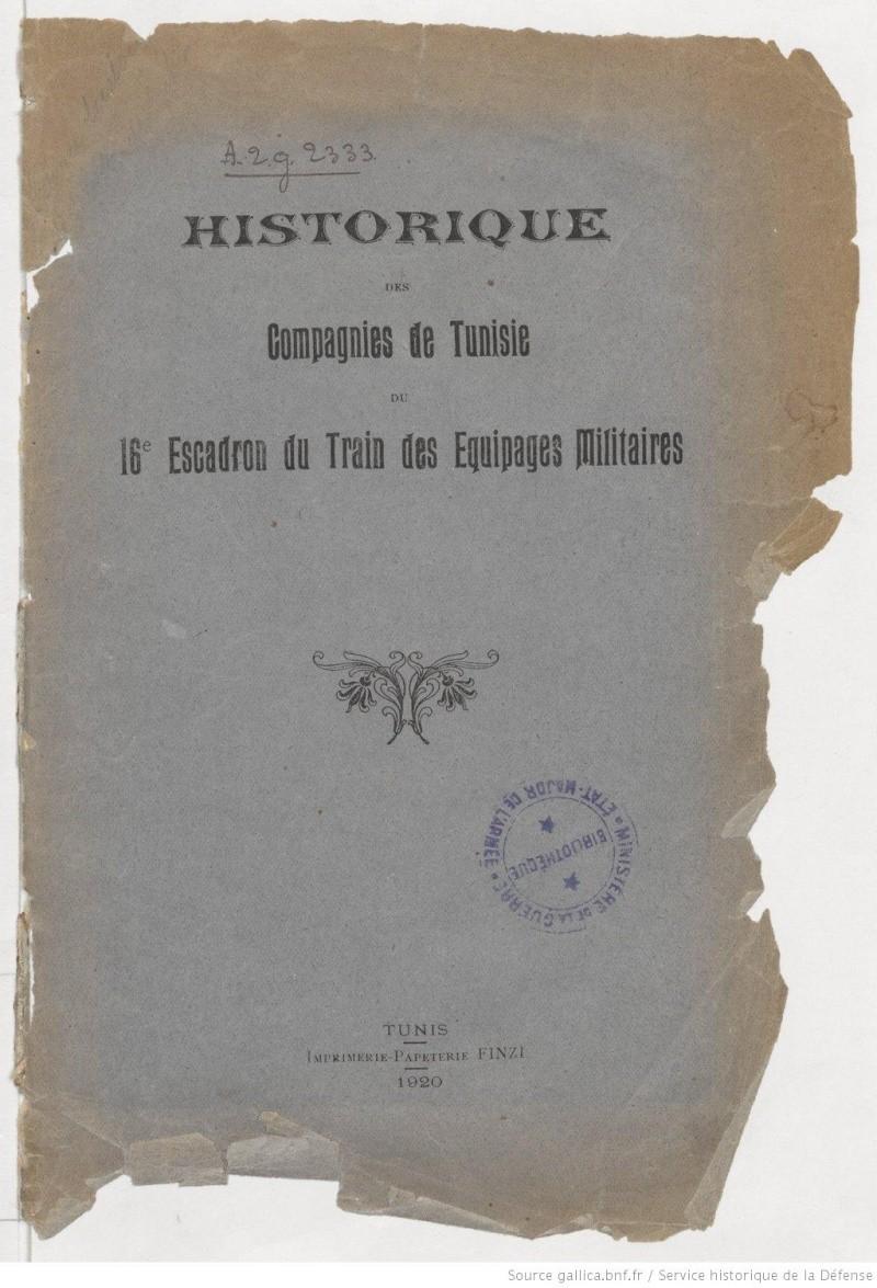 Historique des compagnies de Tunisie du 16e escadron du train des équipages militaires histor10