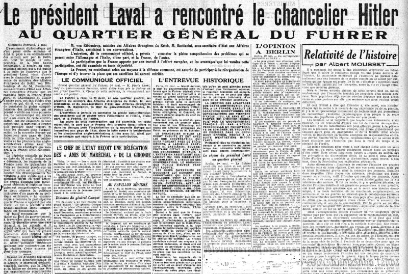 Le président LAVAL a rencontré le chancelier Hitler laval_10