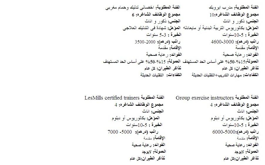 وظائف للمدربين والمدربات بالإمارات