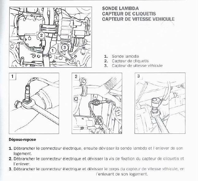 debrancher sonde lambda